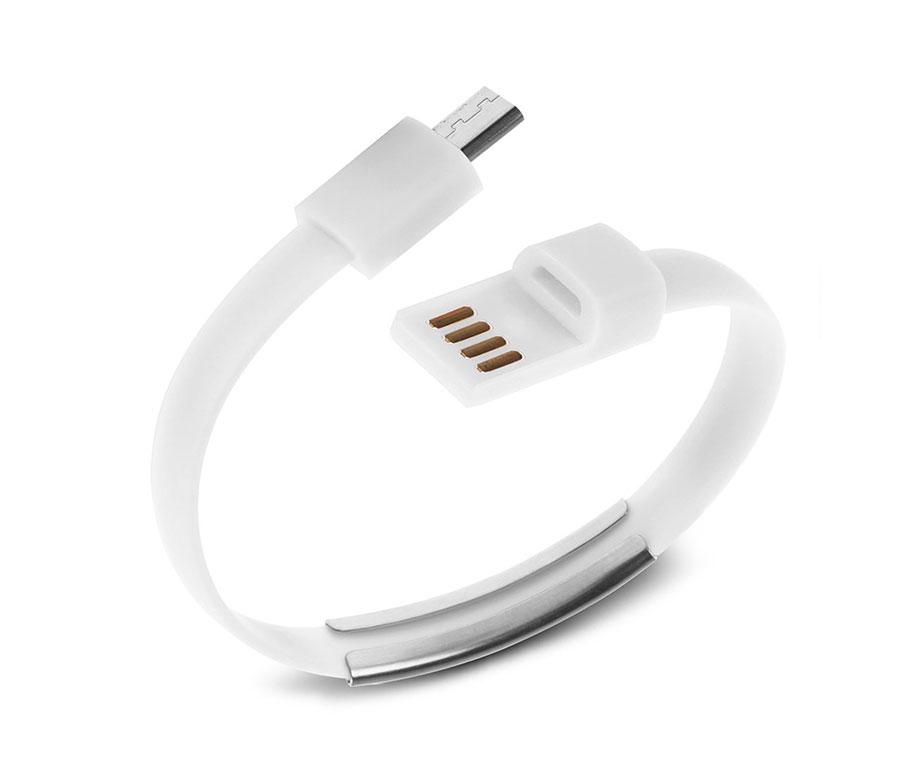 f5881750a9 Καλώδιο Βραχιόλι Λευκό Micro USB (Samsung