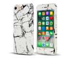 Marble Full Cover Set Θήκη + Tempered Glass Λευκή - iPhone 6 / 6s
